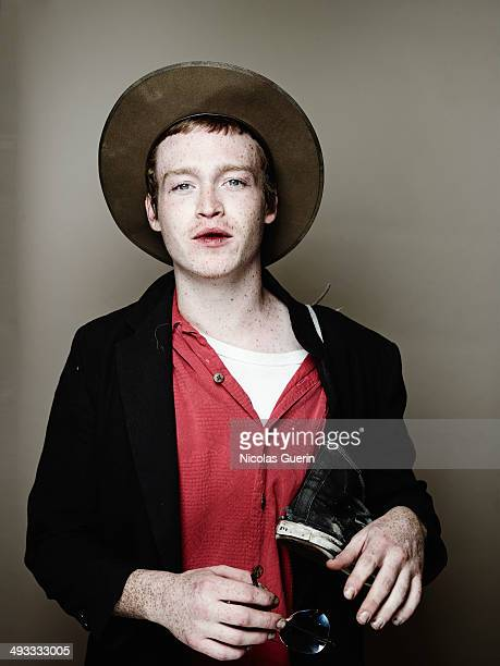 Caleb Landry Jones poses during the 'Queen Country' portrait session at the 67th Annual Cannes Film Festival on May 20 2014 in Cannes France