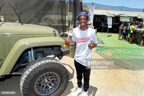Caleb McLaughlin attends Awesome Little Green Men battle at paintball park at Camp Pendleton on July 20 2017 in Oceanside California
