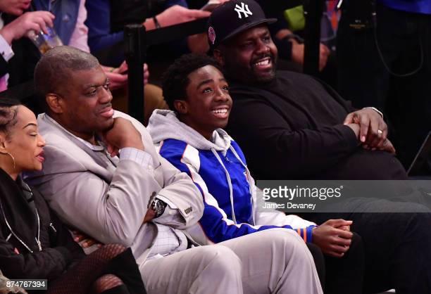 Caleb McLaughlin attends the Utah Jazz Vs New York Knicks game at Madison Square Garden on November 15 2017 in New York City