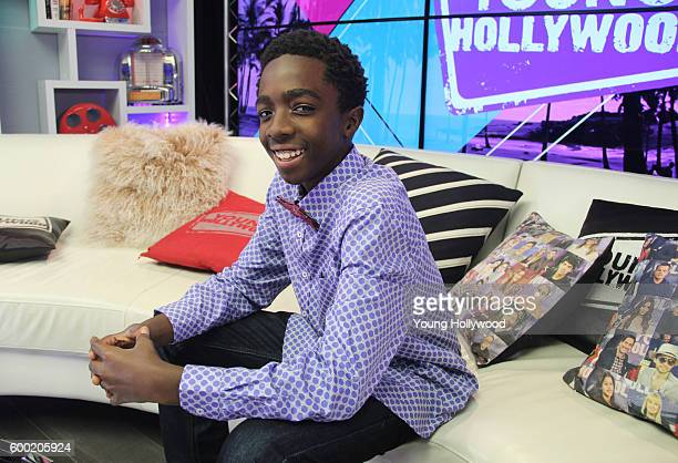 Caleb McLaughlin from 'Stranger Things' visits the Young Hollywood Studio on September 6 2016 in Los Angeles California