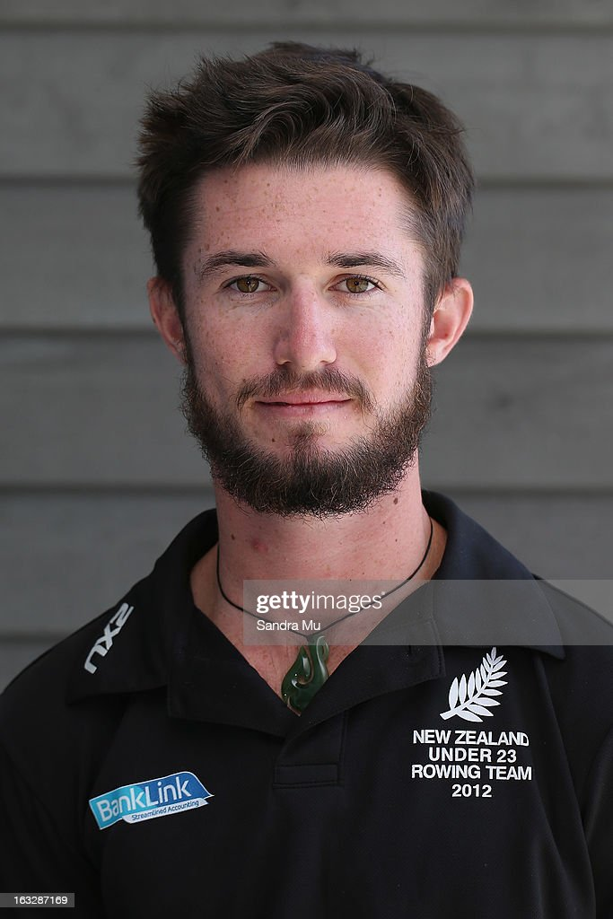 Caleb Shepherd poses before the New Zealand rowing squad announcement for 2013, at Lake Karapiro on March 7, 2013 in Cambridge, New Zealand.
