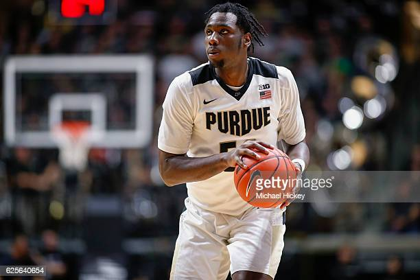 Caleb Swanigan of the Purdue Boilermakers jogs up the court during the game against the Georgia State Panthers at Mackey Arena on November 18 2016 in...