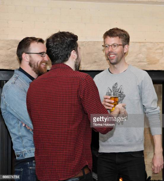 Caleb Ward and Florian Weghorn attend the filmmakers happy hour at the 2017 Aspen Shortsfest on April 7 2017 at Mountain Chalet in Aspen Colorado