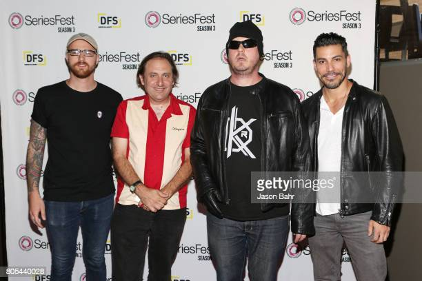 Caleb Ward Gregg Turkington Tim Heidecker and Justin Klosky arrive to Adult Swim's Decker Season 5 Finale during SeriesFest Season 3 at Sie...