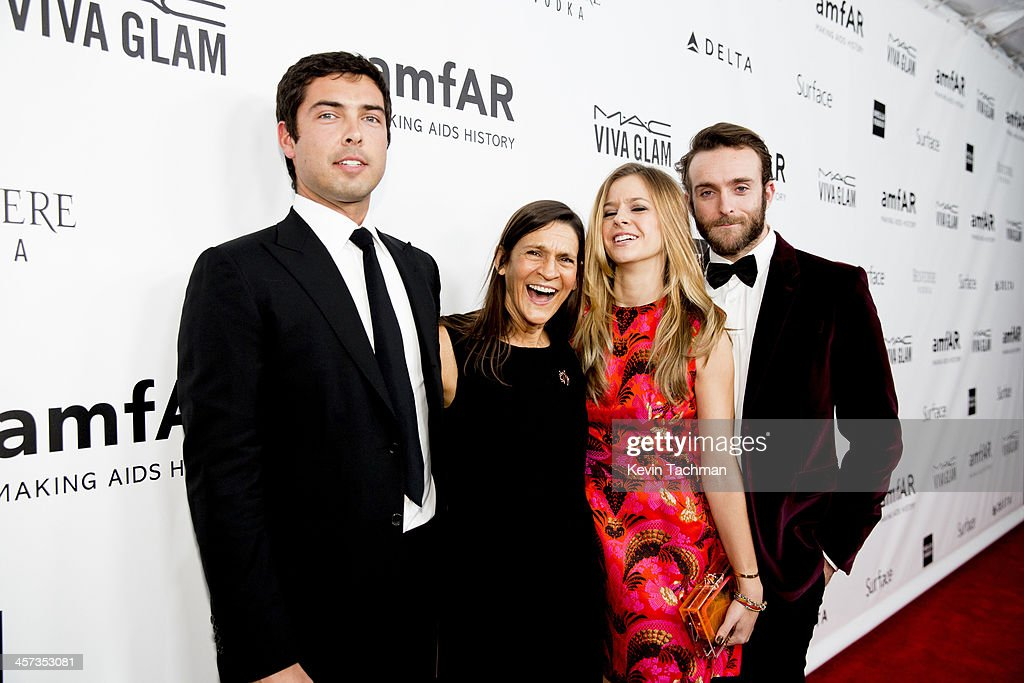 Caleb Wilding honoree Aileen Getty Alexandra Wilding and Andrew Wilding attend the 2013 amfAR Inspiration Gala Los Angeles at Milk Studios on...