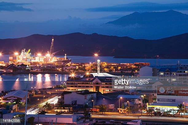 NEW CALEDONIA-Grande Terre Island-NOUMEA: Commercial port view / Evening
