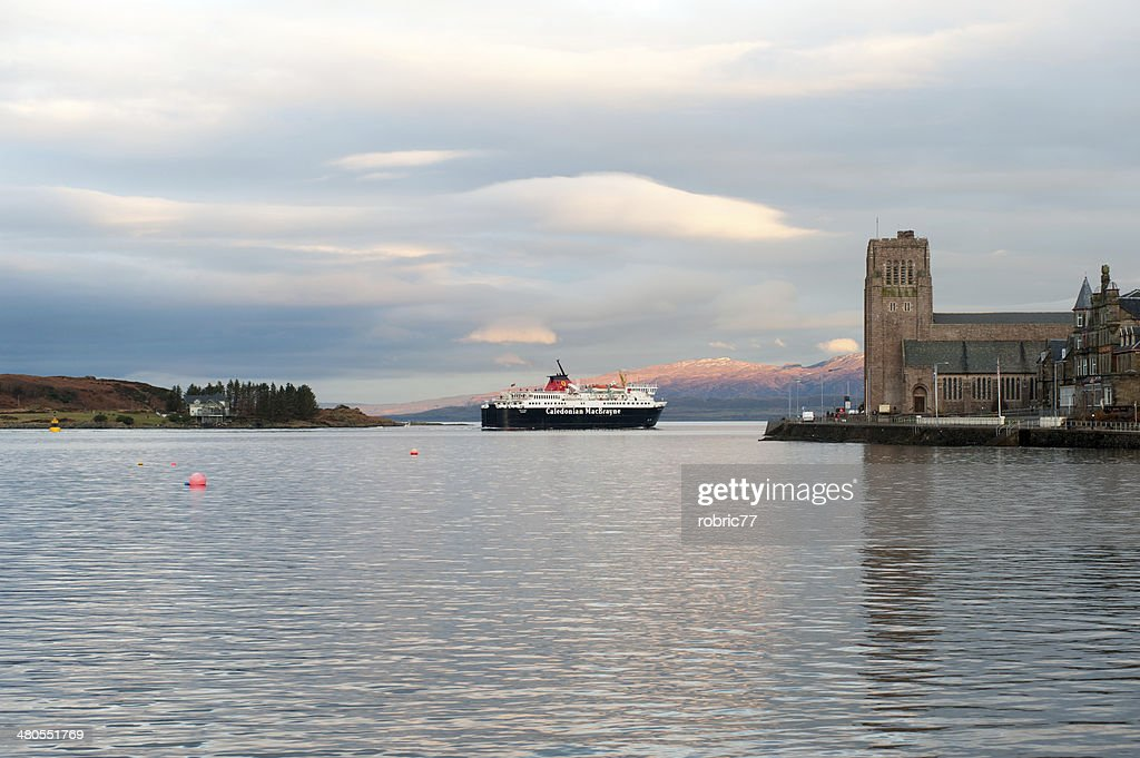 Caledonian MacBrayne Ferry Boat in Oban : Stock Photo