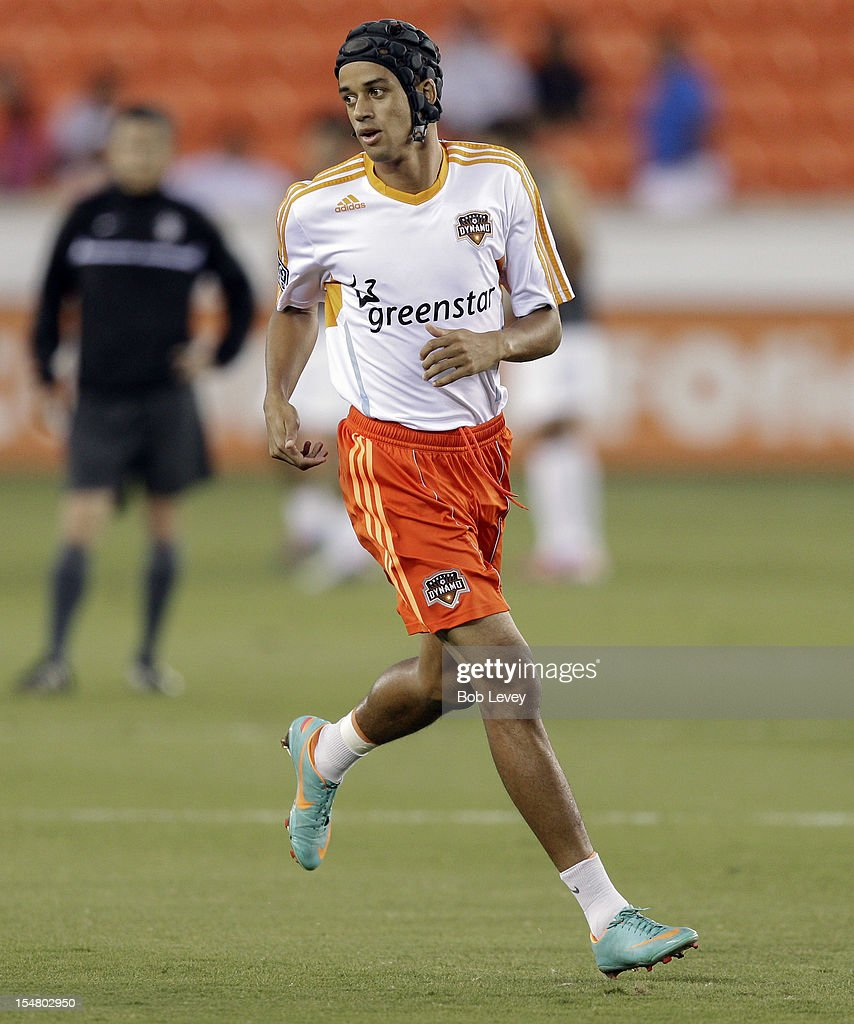 Calen Carr of the Houston Dynamo at BBVA Compass Stadium during the CONCACAF League Champions tournament on October 23 2012 in Houston Texas