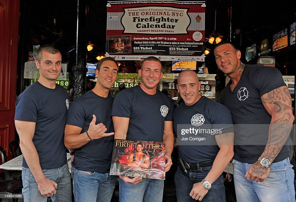 April Calendar New York City : Firefighters calendar launch getty images