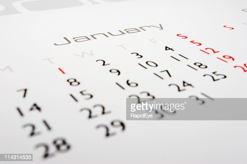 Calendar: January