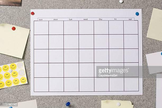 Calendar on Bulletin Board