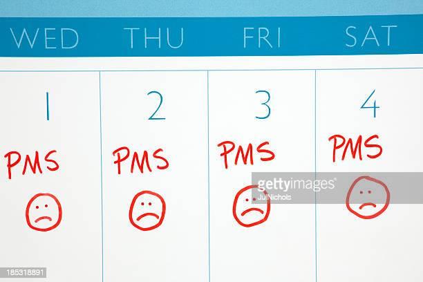 Calendario: PMS o il ciclo mestruale