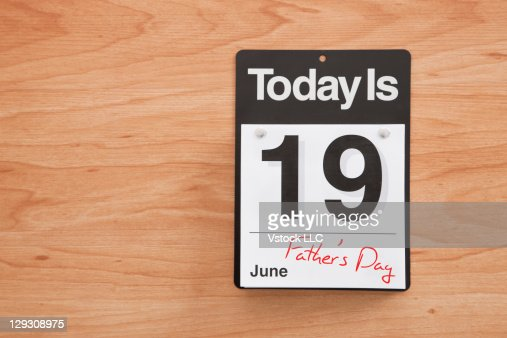 Calendar showing Father's Day