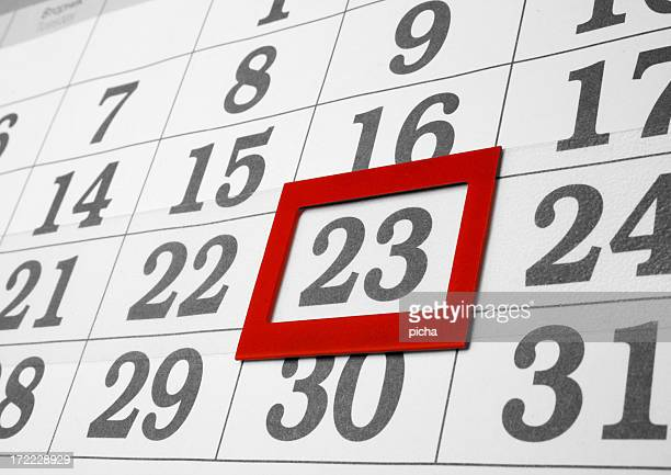calendar the 23th day