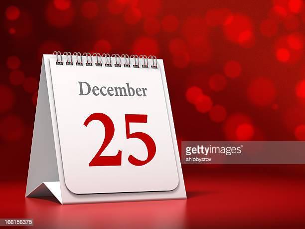 Kalender-Datum mit Weihnachten