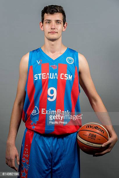 GARDA 'MIHAI VITEAZUL' BUCHAREST ROMANIA Calenic Andrei of Steaua CSM EximBank Bucharest during the official photo session of Steaua CSM EximBank...