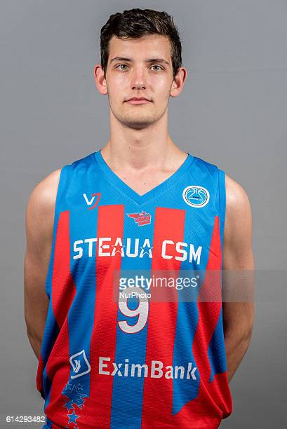 Calenic Andrei of Steaua CSM EximBank Bucharest during the oficial photo session of Steaua CSM EximBank Bucharest before the begining of the FIBA...