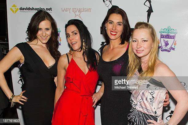 Caley Rose Stacy Kessler Shadia Khalil and Dawn Church attends Cosmopolitan Magazine's February Issue Release party at The Empire Room on January 25...