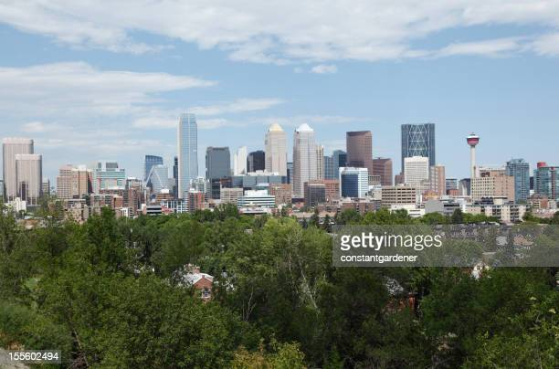 Calgary Alberta Skyline With All The Newest Towers