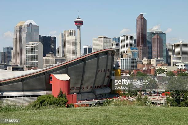 Calgary Alberta Skyline with Saddledome