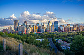 The skyline of downtown Calgary, Alberta, Canada