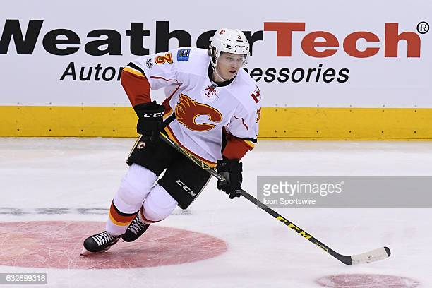 Calgary Flames Defenceman Jyrki Jokipakka in warm ups prior to the regular season NHL game between the Calgary Flames and Toronto Maple Leafs on...