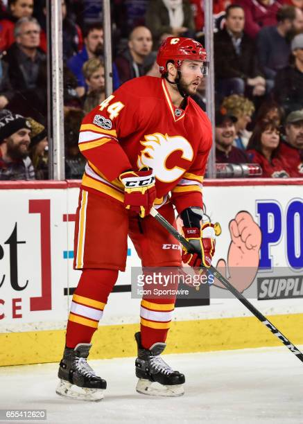 Calgary Flames Defenceman Matt Bartkowski at breakaway during a game between the Calgary Flames and the Los Angeles Kings on March 19 at the...