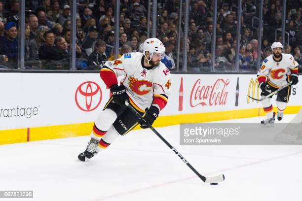 Calgary Flames defenseman Matt Bartkowski during the NHL regular season hockey game between the Calgary Flames and the Los Angeles Kings on April 6...