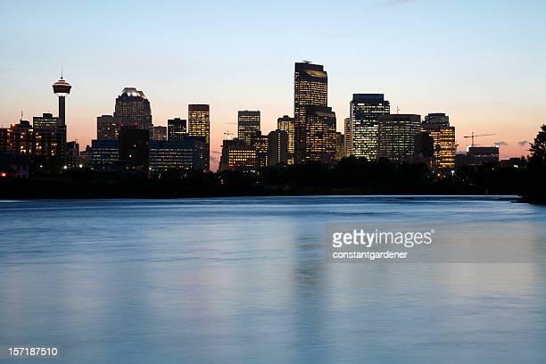 Calgary Skyline and Bow River Twilights