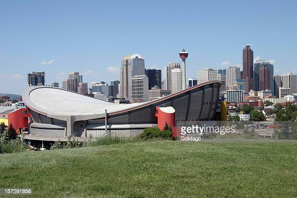 Calgary Skyline With Full Saddledome