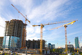 East Side Village being constructed in the city of Calgary. Major develpoment project in progress