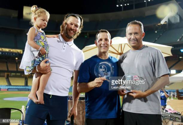 Cali Ann Kershaw Clayton Kershaw and winners of Kershaw's Challange 5th Annual Ping Pong 4 Purpose Mike Singer and Michael Weisberg at Clayton...
