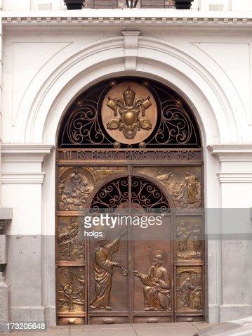 Cali Cathederal Colombia - bronze doorway