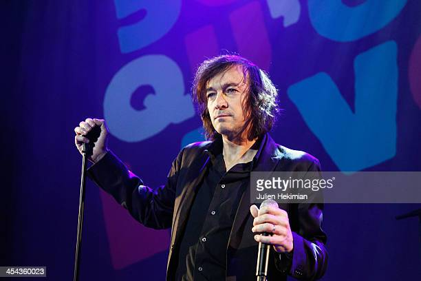 Cali performs on stage during the 50th anniversary celebration of french radio France Inter at La Gaite Lyrique on December 8 2013 in Paris France