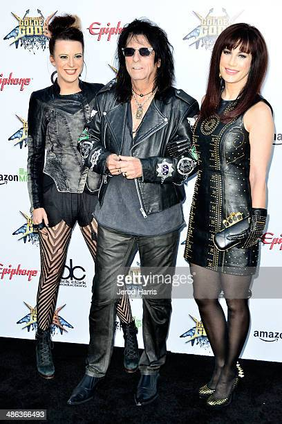 Calico Cooper Alice Cooper and Sheryl Cooper arrive at the 2014 Revolver Golden Gods Awards at Club Nokia on April 23 2014 in Los Angeles California