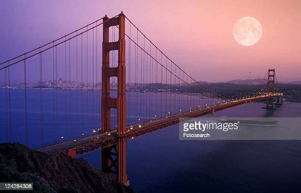 California, America, bridge, architecture, america, california, abenddaemmerung