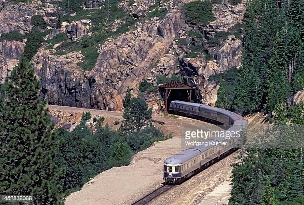 USA California American Orient Express At Yuba Gap Tunnel