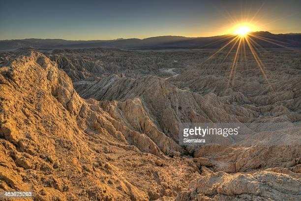 USA, California, Anza-Borrego Desert State Park, Landscape at sunset