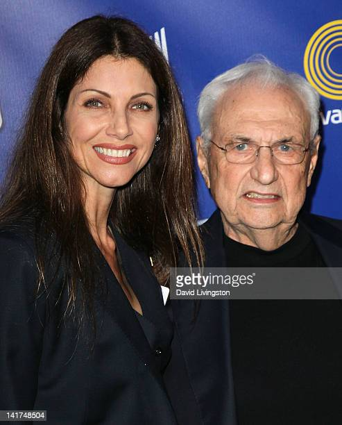 California Arts Council chair Malissa Feruzzi Shriver and architect Frank Gehry attend the California Arts Council's Arts License Plate Program...