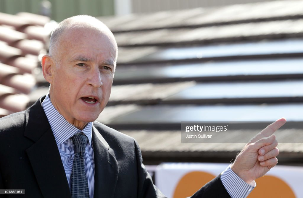 Democratic Gubernatorial Candidate Jerry Brown Campaigns In Newark, CA