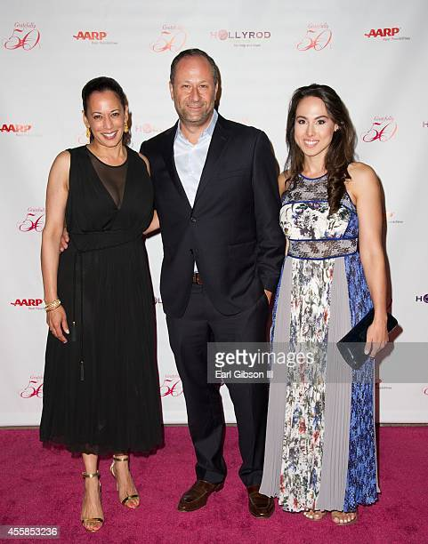 California Attorney General Kamal Harris Douglas Emhoff and guest attend Holly Robinson Peete's 50th Birthday Celebration on September 20 2014 in...