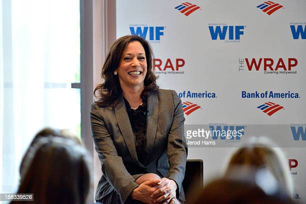 California Attorney General Kamala Harris attends TheWrap's 'Power of Leadership' brunch at Scarpetta on December 13 2012 in Los Angeles California