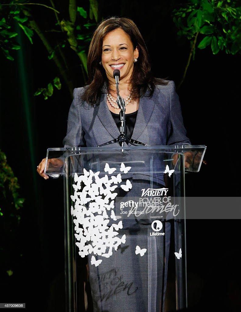California Attorney General Kamala Harris speaks onstage at 2014 Variety Power of Women presented by Lifetime at Beverly Wilshire Four Seasons on October 10, 2014 in Los Angeles, California.