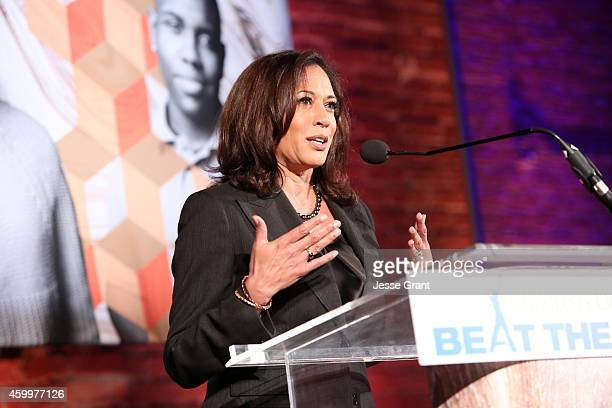 California Attorney General Kamala Harris speaks onstage during Children's Defense Fund California Hosts 24th Annual Beat The Odds Awards at Book...