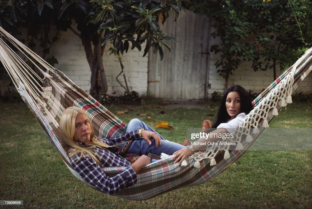 1977, California, Beverly Hills, Cher with Gregg Allman.