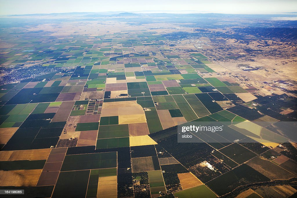 California Central Valley Edge : Stock Photo
