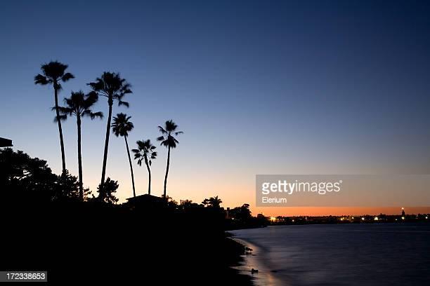 California Coast at Dusk