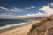 California coastline in Santa Barbara County, Southern California, USA