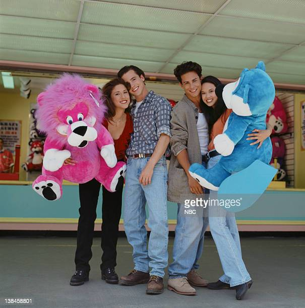 California Dreams Season 3 Pictured Diana Uribe as Lorena Costa Aaron Jackson as Mark Winkle Michael Cade as Sylvester 'Sly Winkle' Jennie Kwan as...
