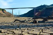 California Drought - Under New Melones Bridge on Dry Lakebed